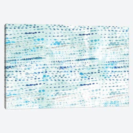Dottted Blue Canvas Print #SFR49} by Sara Franklin Canvas Print