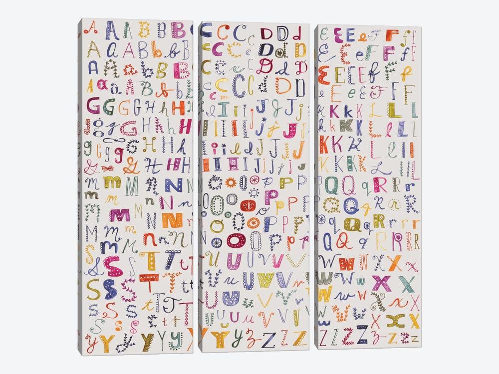 Alphabetical by Sara Franklin 3-piece Canvas Art Print