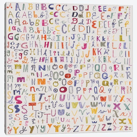 Alphabetical Canvas Print #SFR4} by Sara Franklin Canvas Wall Art