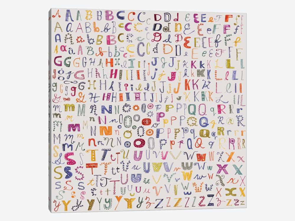 Alphabetical by Sara Franklin 1-piece Art Print