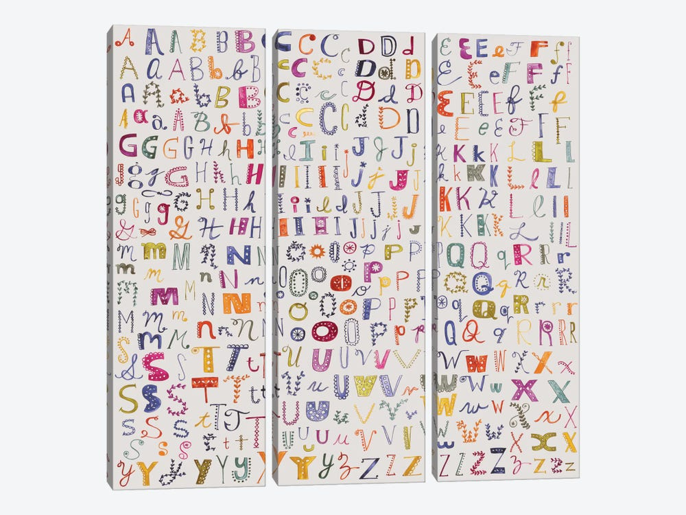Alphabetical by Sara Franklin 3-piece Canvas Art Print