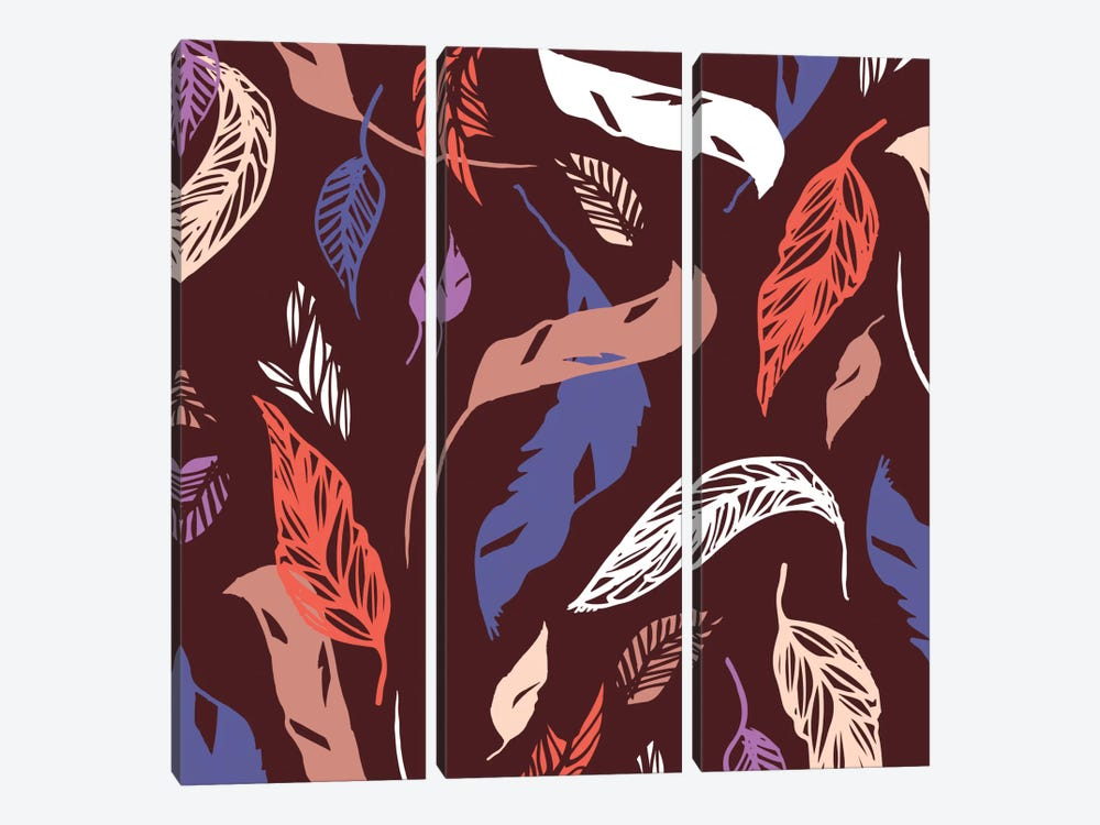 Feather Toss by Sara Franklin 3-piece Art Print