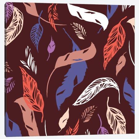 Feather Toss Canvas Print #SFR58} by Sara Franklin Canvas Wall Art