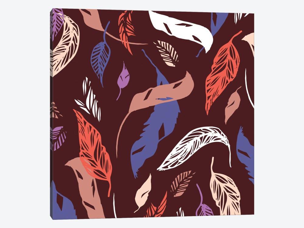 Feather Toss by Sara Franklin 1-piece Canvas Art Print