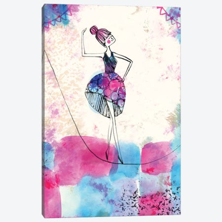 Ballerina Canvas Print #SFR5} by Sara Franklin Canvas Wall Art