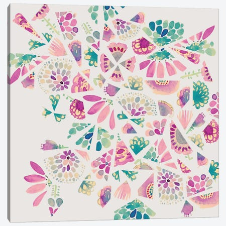 Flower Cutouts Canvas Print #SFR64} by Sara Franklin Canvas Art
