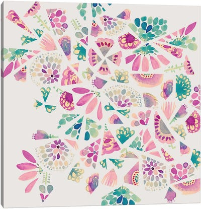 Flower Cutouts Canvas Art Print