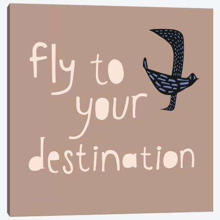 Fly To Your Destination Canvas Print #SFR66} by Sara Franklin Canvas Wall Art