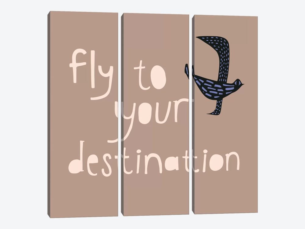 Fly To Your Destination by Sara Franklin 3-piece Canvas Art