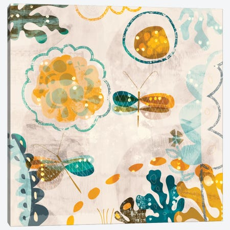 Garden Wings Canvas Print #SFR69} by Sara Franklin Art Print