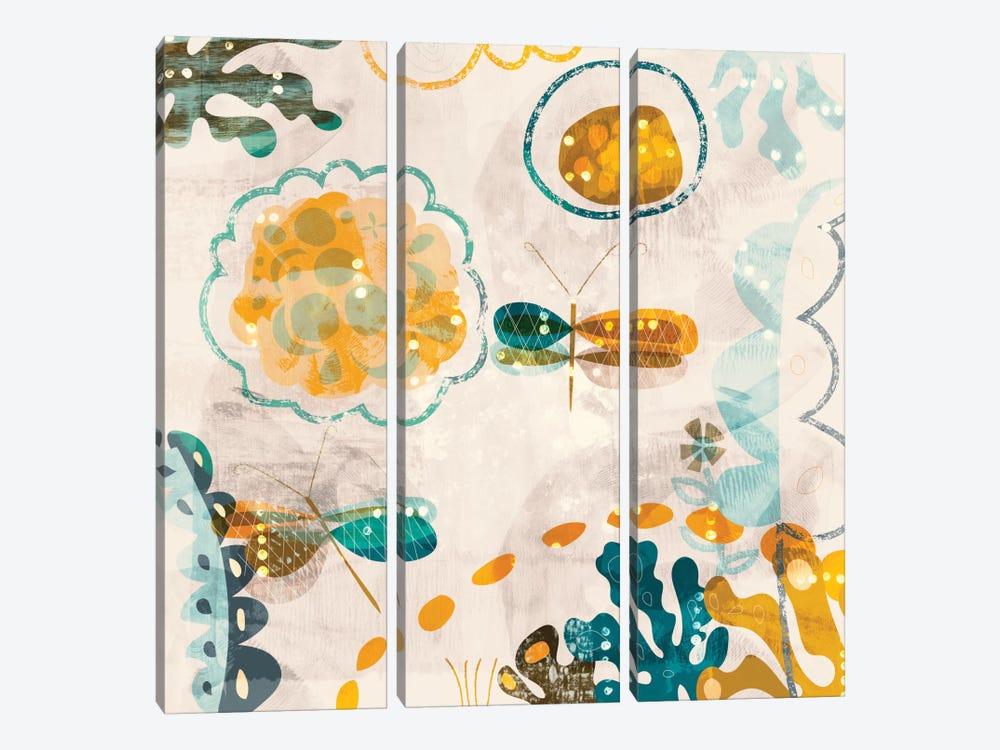 Garden Wings by Sara Franklin 3-piece Art Print