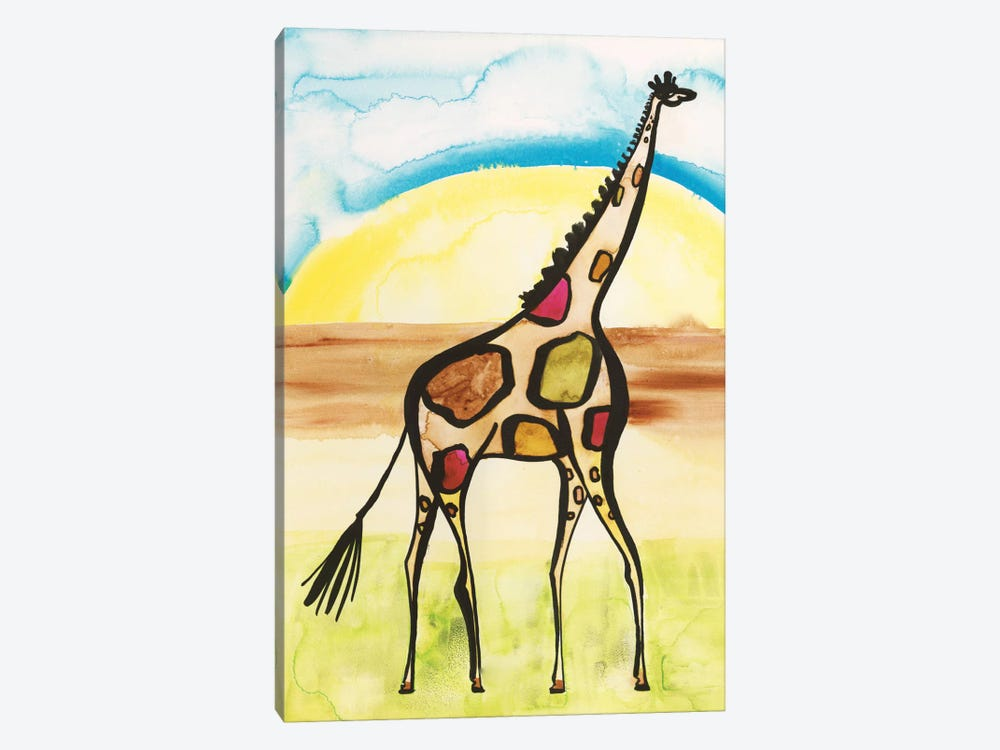 Giraffe by Sara Franklin 1-piece Canvas Print