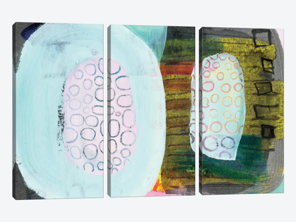 Green Pods by Sara Franklin 3-piece Canvas Art Print