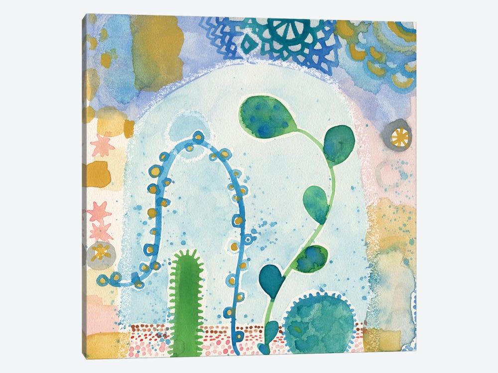 Green Terrarium by Sara Franklin 1-piece Canvas Wall Art