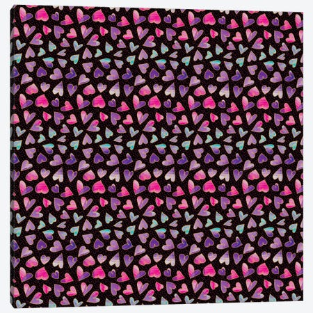 Hearts Canvas Print #SFR78} by Sara Franklin Canvas Artwork