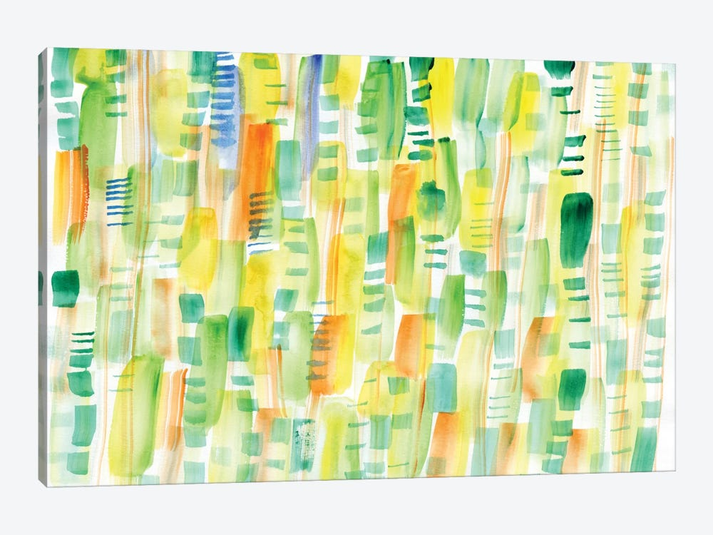 In Between Greens by Sara Franklin 1-piece Canvas Artwork