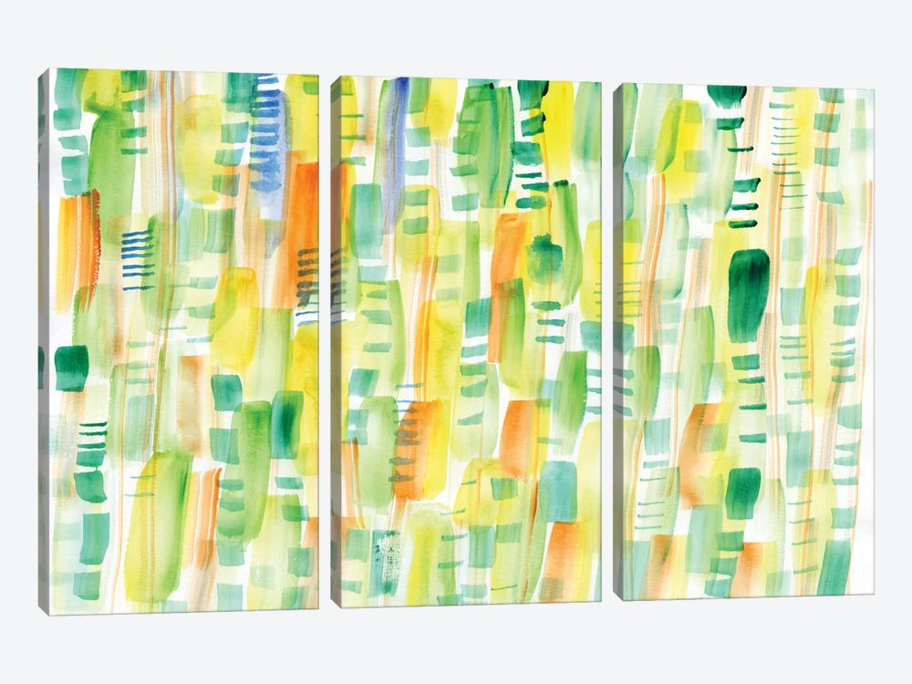 In Between Greens by Sara Franklin 3-piece Canvas Art