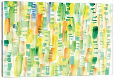In Between Greens Canvas Art Print