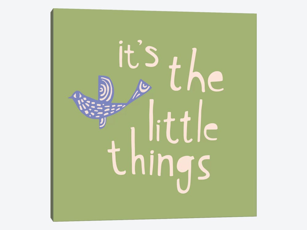 It's The Little Things by Sara Franklin 1-piece Canvas Art Print