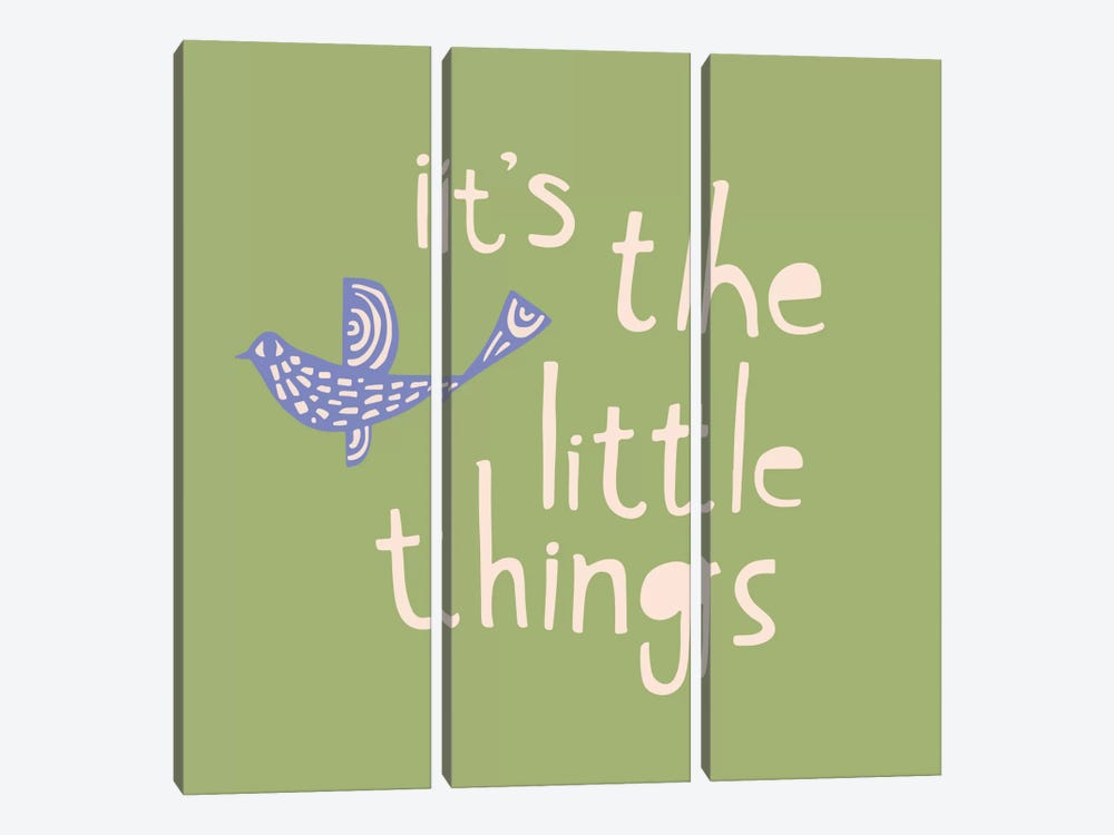 It's The Little Things by Sara Franklin 3-piece Canvas Art Print