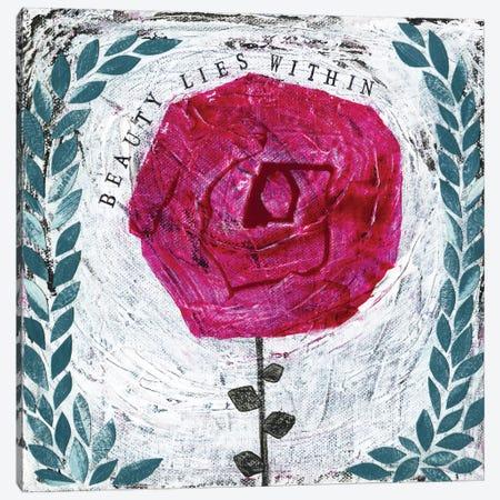 Beauty Lies Within Canvas Print #SFR8} by Sara Franklin Art Print