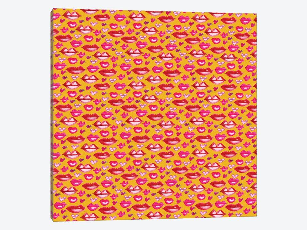 Lips Pattern by Sara Franklin 1-piece Art Print