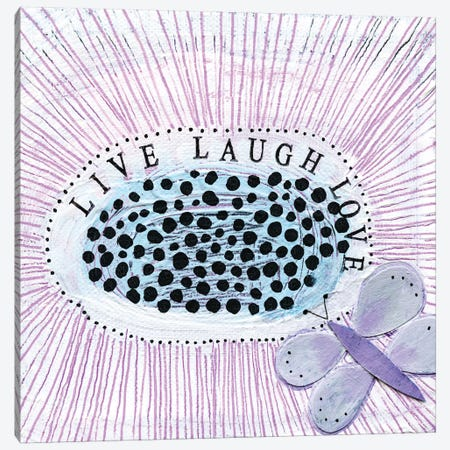 LiveI Laugh! Love! Canvas Print #SFR92} by Sara Franklin Canvas Artwork