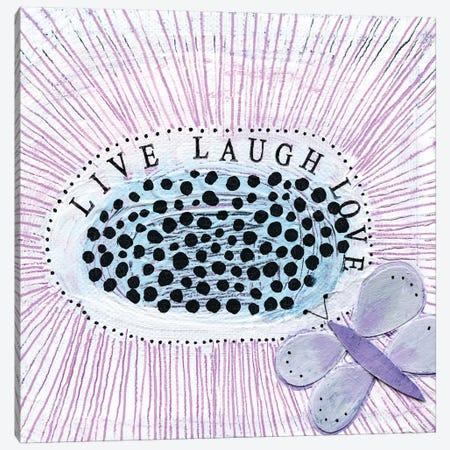 LiveI Laugh! Love! Canvas Print #SFR92} by Sara Franklin Canvas Artwork