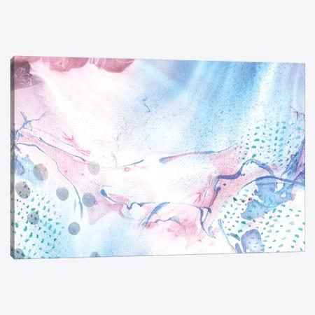 Marbled Rain Canvas Print #SFR96} by Sara Franklin Canvas Print