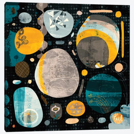 Moon Rocks Canvas Print #SFR99} by Sara Franklin Canvas Artwork