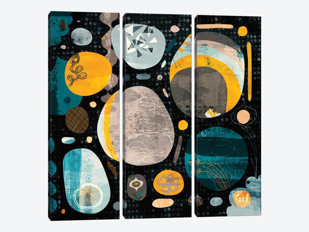 Moon Rocks by Sara Franklin 3-piece Canvas Wall Art