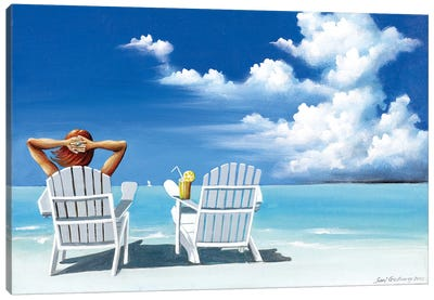 Watching Clouds Canvas Art Print