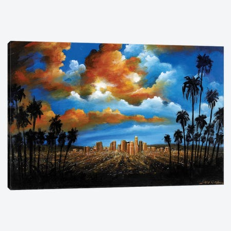 City Of Angels Canvas Print #SGA11} by Susi Galloway Canvas Artwork