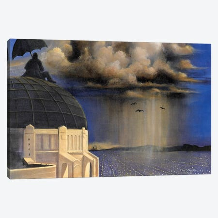 Stormwatch At Griffith's Canvas Print #SGA12} by Susi Galloway Canvas Artwork