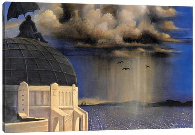 Stormwatch At Griffith's Canvas Art Print