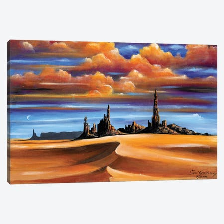 Monument Valley Canvas Print #SGA13} by Susi Galloway Canvas Wall Art