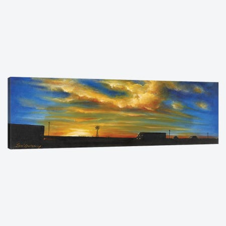 On Route 66 To Amarillo Canvas Print #SGA16} by Susi Galloway Canvas Art Print