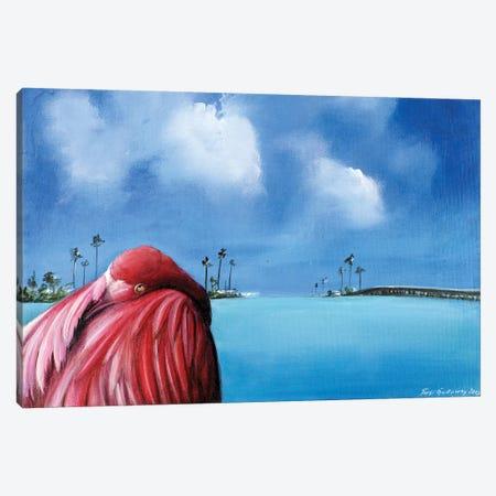 Pink Flamingo Canvas Print #SGA21} by Susi Galloway Canvas Art Print