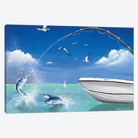 Big Catch Canvas Print #SGA22} by Susi Galloway Canvas Print