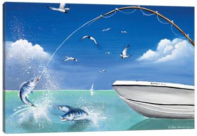 Big Catch Canvas Art Print
