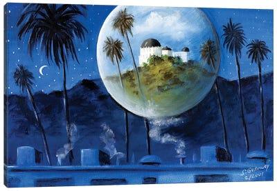 Midnight Dream In Los Feliz Canvas Art Print