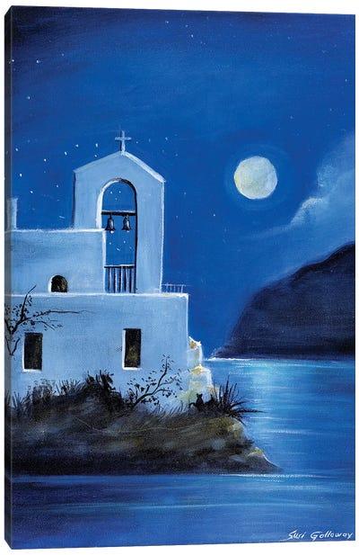Little Church By The Sea Canvas Art Print