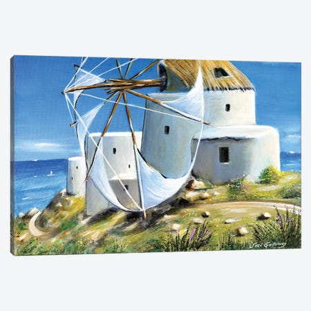 Mill On The Hill Canvas Print #SGA25} by Susi Galloway Canvas Artwork