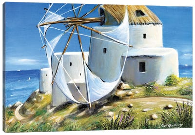 Mill On The Hill Canvas Art Print