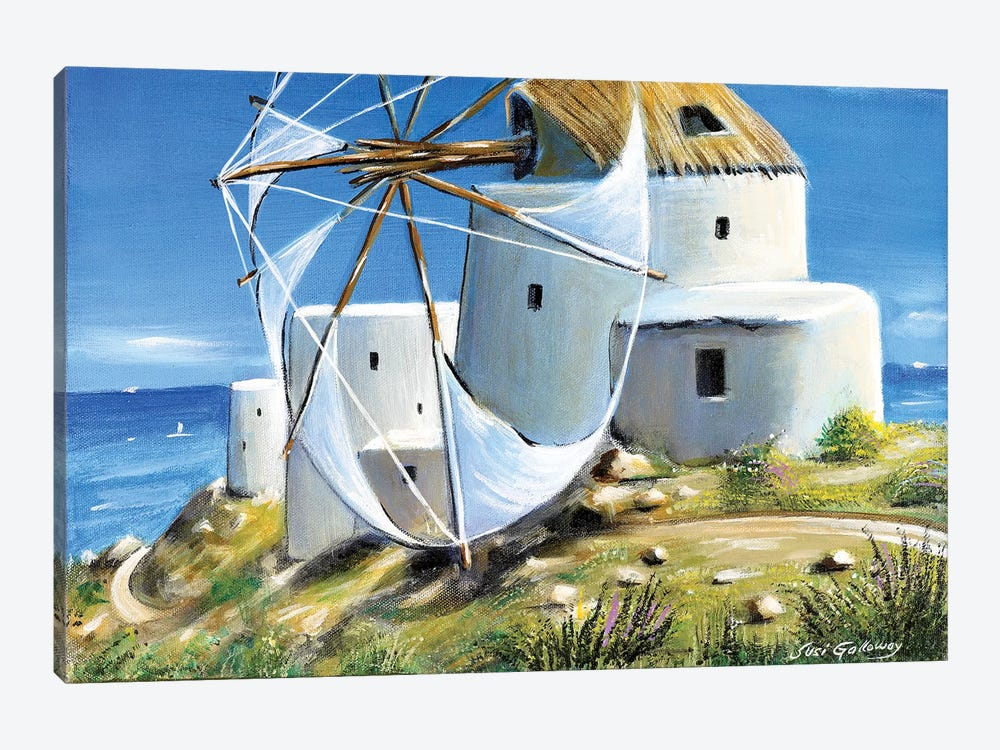 Mill On The Hill by Susi Galloway 1-piece Canvas Art