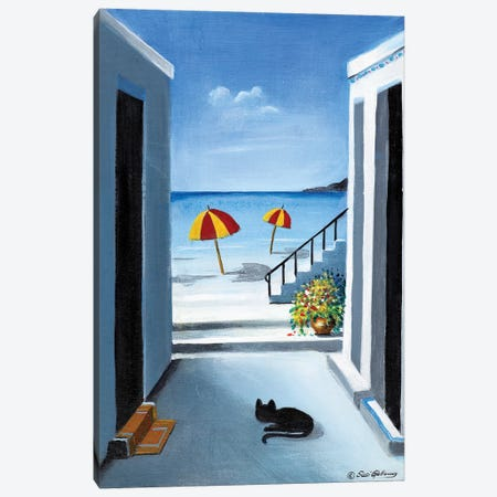 Noon By The Beach Canvas Print #SGA27} by Susi Galloway Canvas Wall Art