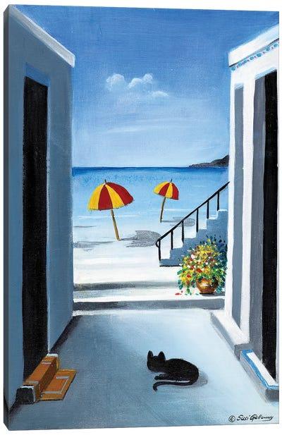 Noon By The Beach Canvas Art Print