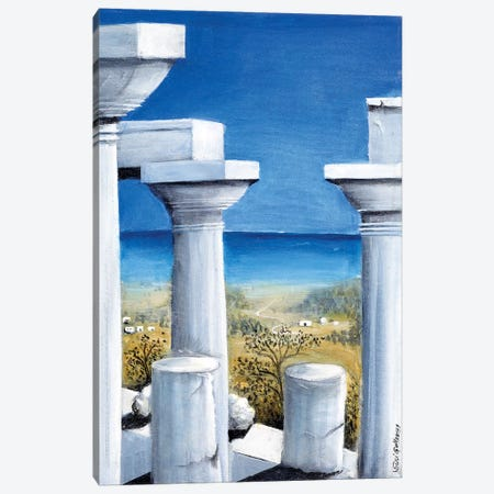 Once Upon A Time In Greece Canvas Print #SGA28} by Susi Galloway Canvas Art Print