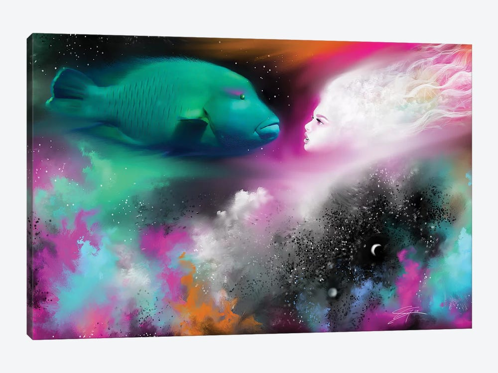 Confrontation by Susi Galloway 1-piece Canvas Wall Art