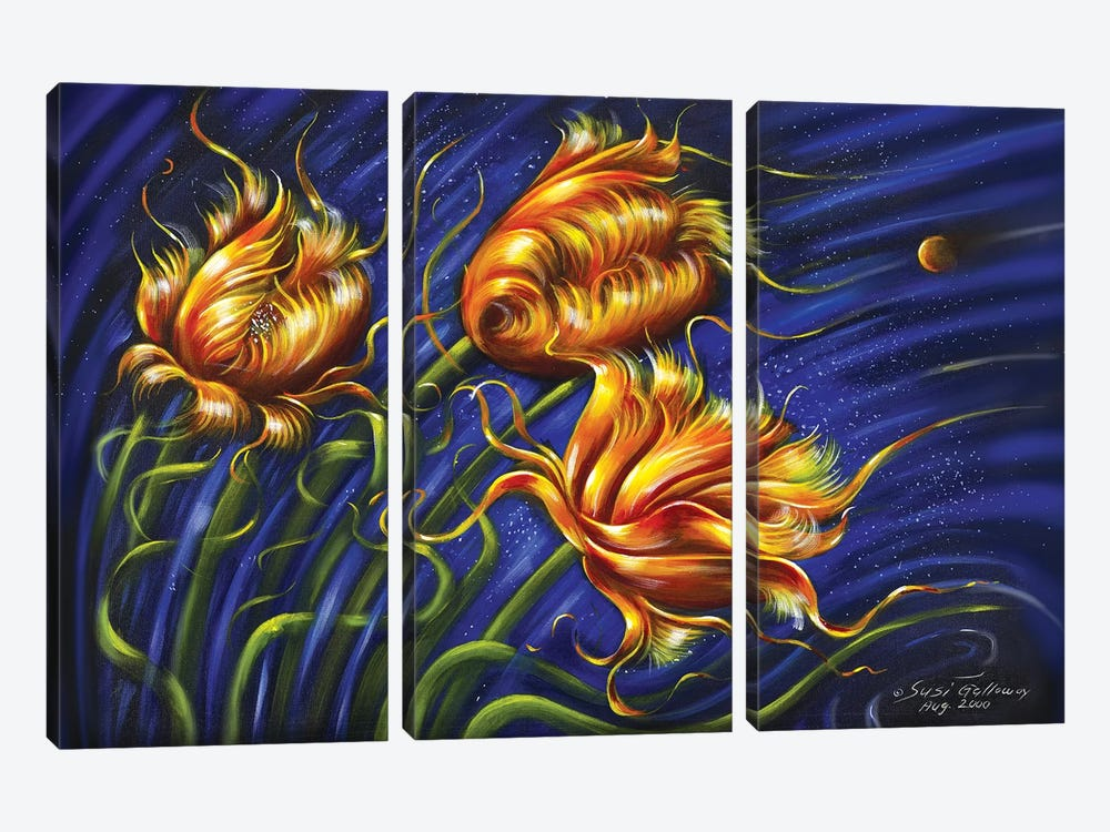 Spulips by Susi Galloway 3-piece Canvas Art Print